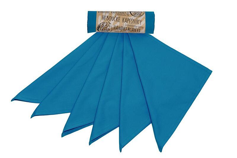 Použití produktu Vreckovky pánske – tealová modrá (36×36 cm) 6 ks